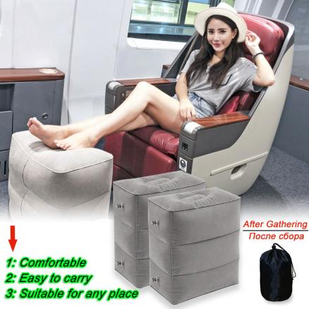 Inflatable Portable Travel Footrest Pillow Case Plane Train Kids Bed Foot Rest Pad Plane Train Bed Body Foot Rest Pad Pillows
