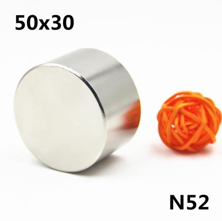 1pcs/lot N52 Dia 50x30 mm hot round magnet Strong magnets Rare Earth Neodymium Magnet 50x30mm wholesale 50*30 mm