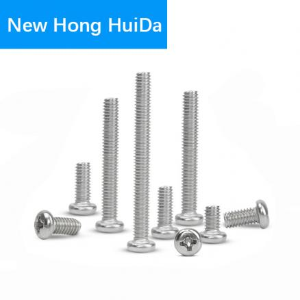 Phillips Pan Round Head Cross Recessed Screw Thread Metric Machine Bolt 304 Stainless Steel M3 M3.5