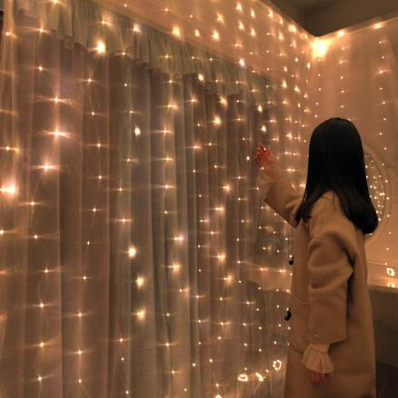 3*0.5/3*2/3*3 LED Curtain String Light Fairy Icicle LED Christmas Garland Wedding Party Decor 8 modes Adjustable with Remote