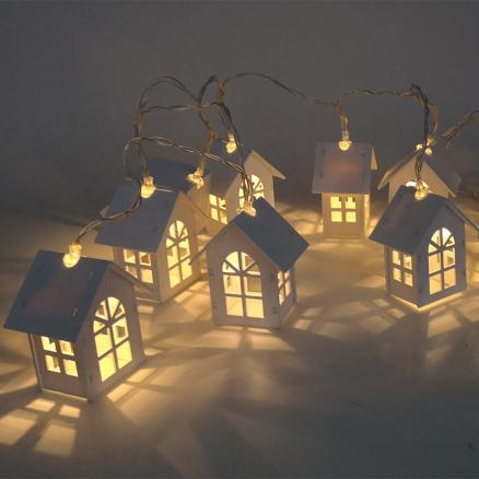 6m Fairy Led Light String House Bell Snowflake Pine nut Style wedding Xmas Tree New Year christmas decoration for home garland