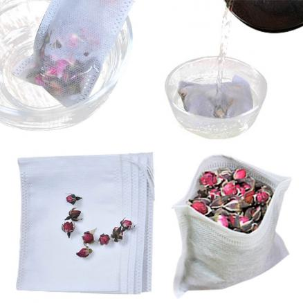 Cook Herb Spice Tools Non-woven Seal Filter Medcine Bags Coffee Pouches 100Pcs Multifunction Drawstring Pouch Tea Bags  6*8cm
