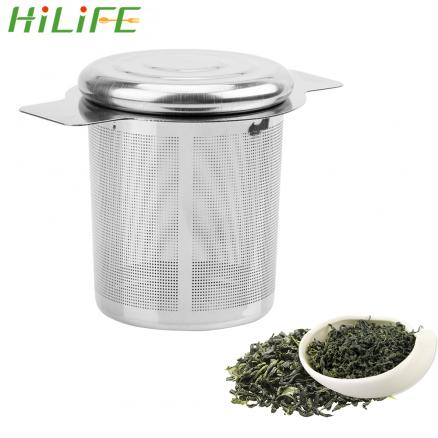 HILIFE Tea Infusers with 2 Handles Basket Reusable Fine Mesh Tea Strainer Lid Tea and Coffee Filters Stainless Steel