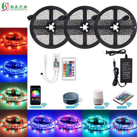 10M RGB WIFI LED Strip 2835 Waterproof 15M 5M Diode Tape Smart Magic Home WIFI LED Controller Voice Control 12V Adapter