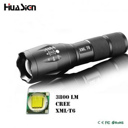 Ultra Bright 5 Mode 3800LM Zoomable Led Flashlight Waterproof Torch Lights Bike Light Free Shipping