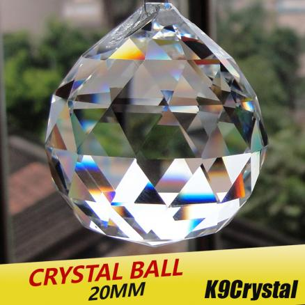 20pcs/lot 20mm Glass crystals for chandeliers faceted hanging ball crystal drops for chandelier parts for home decoration