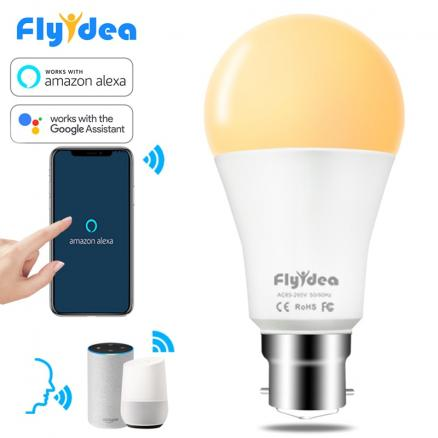 15W B22 LED Light Bulb WiFi APP Remote Control Smart Home Light Bulb AC 85-265V Timed Lamp Compatible Alexa and Google Assistant