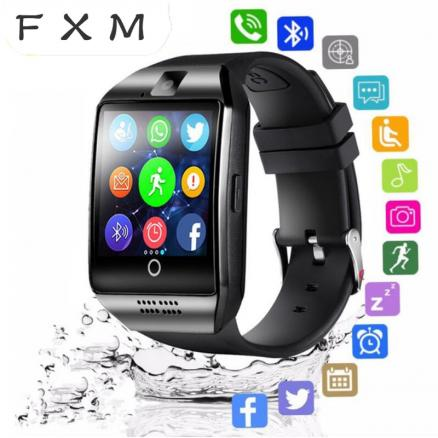 FXM Bluetooth Smart Clock Man Mit Kamera Facebook Whatsapp Twitter Sync SMS Mens' Watches Support SIM TF Map For IOS Android+Box