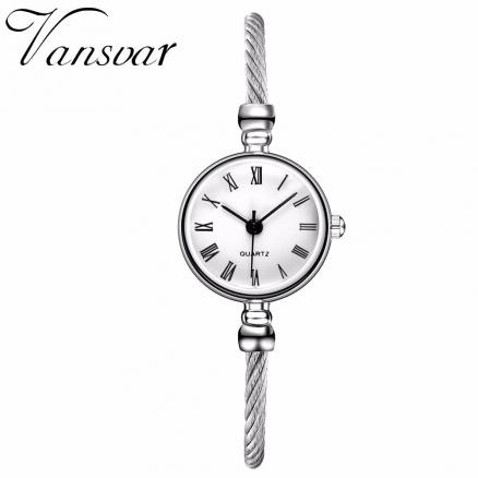 Hot Fashion Women Simple Silver Roma Dial Watch Casual Luxury Small Bracelet Female Clock Ladies Wristwatches Relogio Feminino