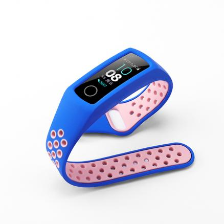 For Huawei Honor Band 4 / 5 Strap Two-color silicone sports wristband Replacement Band 3 Sport Bracelet honor band 5 watchband
