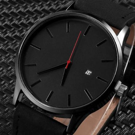 Men's Quartz Watch Calendar Casual Sport Leather Watches Best Sell Men Male Luxury Wristwatch Hombre Hour Clock Masculino Reloje