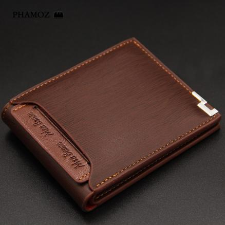 Retro Purse Short Anime  Slim Thin Short Luxury  Mini Slim Credit Card  Cute Leather Small Wallet High Quality,Men Wallets