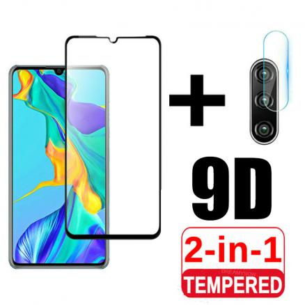 2 in 1 Protective Glass For Huawei P30 Lite P30lite Tempered Glass Camera Lens Screen Protector Hawei P 30 Light Safety Pelicula