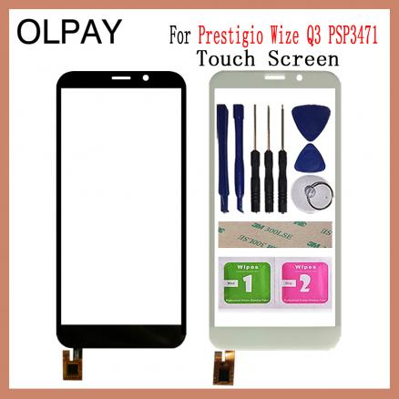 """Mobile Phone Touch Screen 5.0"""" inch For Prestigio Wize Q3 PSP3471 DUO Touch Screen Front Glass Panel Replacement"""