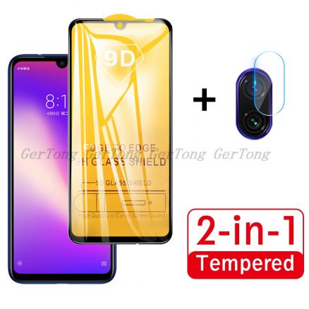 2 in 1 For Redmi Note 7 Tempered Glass for Xiaomi Redmi Note 7 Pro New Full Cover Screen Protector Camera Lens Protective Film
