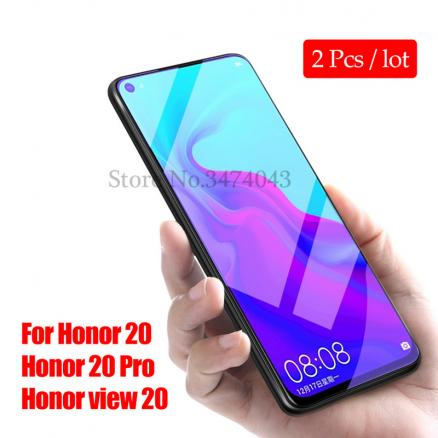 2pcs/lot Tempered Glass For Huawei Honor 20 Pro Screen Protector 9H Anti Blu-ray Glass For Honor View 20 V20 Protective Film