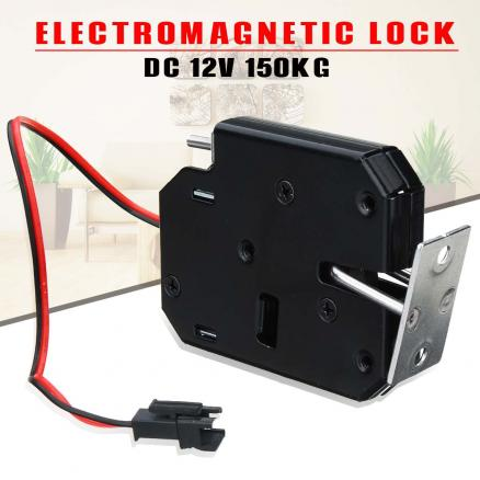 12V 2A Electric Magnetic Lock 150KG/330lb Fail Safe Holding Force Electromagnetic Door Access Control System Cabinet Boxes
