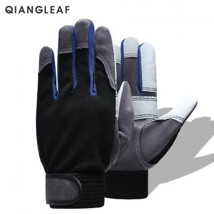 QIANGLEAF Brand Work Gloves Black White Stitching Safety Protection Wear Glove Hiking Bicycle Bike Cycling Winter Gloves 2710