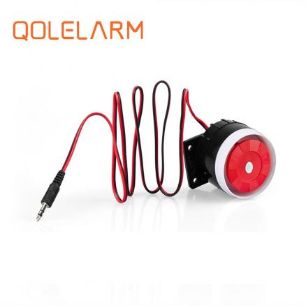 Qolelarm free shipping 120dB 6-12VDC wired indoor mini siren Horn loudly siren for gsm wireless alarm system