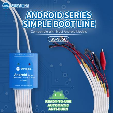 SS-905C Android Power Supply Test Cable DC Power Control Test Cable for Samsung Huawei  Xiaomi OnePlus Meizu Nokia Boot Up Line