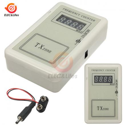 Handheld Remote Control Wireless Frequency Meter Counter tester 250-450MHZ for Car Auto Key Remote Control Detector Power Cable