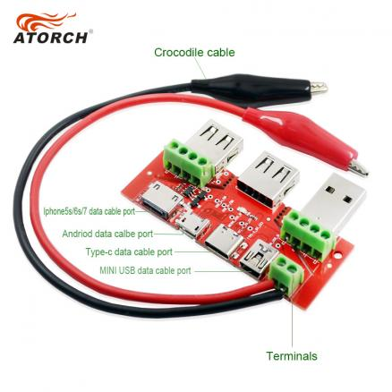 ATORCH USB tester meter ammeter capacity monitor Instruments parts Lightning Type-c Micro MiNi USB cable Adapter converter board