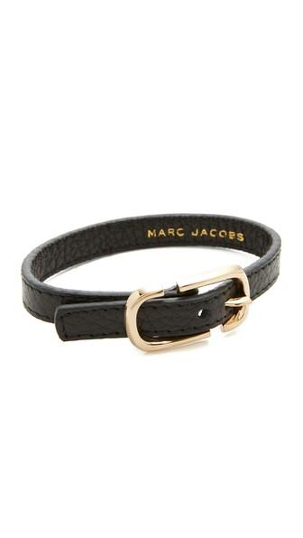 Marc Jacobs Icon Buckle Leather Bracelet
