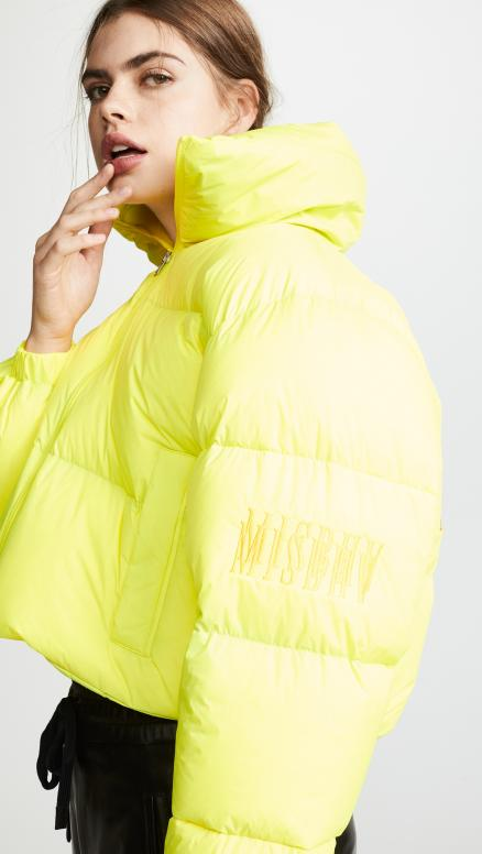 M I S B H V Yellow Down Jacket