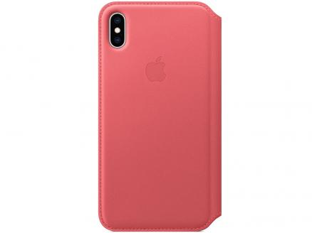 Чехол-книжка для iPhone XS Max Apple Leather Folio Peony Pink флип, кожа