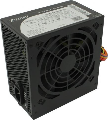 Блок питания ATX 600 Вт Powerman PM-600ATX-F-BL [6128219] ATX 12В 2.2
