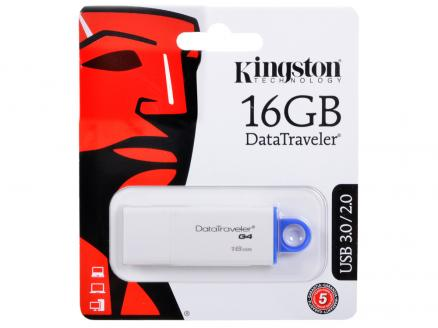 USB флешка Kingston DataTraveler DTIG4 16GB White (DTIG4/16GB) USB 3.0 / 40 МБ/cек / 10 МБ/cек
