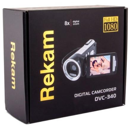 "Видеокамера Rekam dvc-340 черный is el 2.7"" 1080p sd+mmc flash/flash"