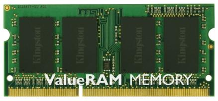 Память so-dimm ddr3 4096 mb (pc-10600) 1333mhz kingston, cl9 <retail> (kvr13s9s8/4)