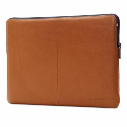 """DECODED Leather Slim Sleeve with Zipper for MacBook 12"""" Brown (D4SS12BN)"""