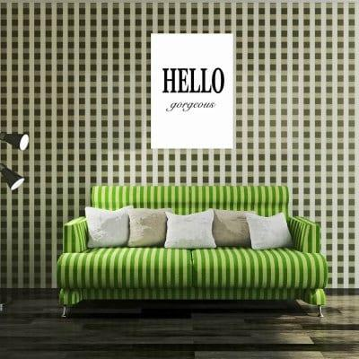 W268 Letters Unframed Wall Canvas Prints for Home Decoration