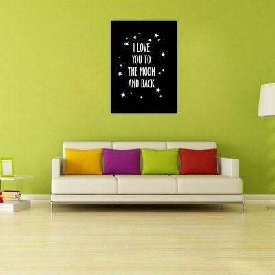 W264 Letters Frameless Wall Canvas Prints for Home Decoration