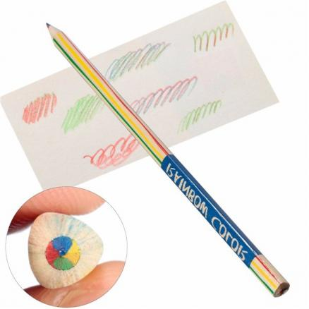 1pcs Rainbow Color Pencil 4 in 1 Colored Drawing Painting Pencil Pen