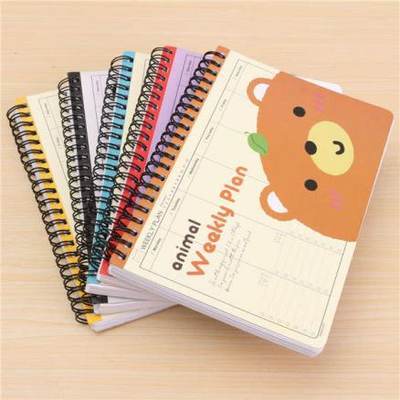 Cartoon Travel Diary Schedule Note Book Creative Gift 5 Styles Diary
