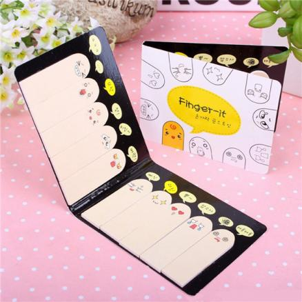 200 Pages Different Cute Expression Fingers Memo Sticky Notes