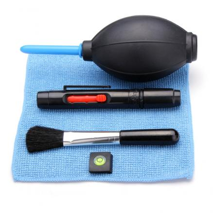 5 In 1 Camera Cleaning Kit Hot Shoe Spirit Lens Pen Air Blowing Cloth