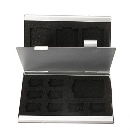 Aluminum Micro SD MMC TF Memory Card Storage Box Protecter Case
