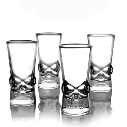 50ML Creative Clear Head Glass Cup Vodka Whisky Wine Spirit Glass Cup