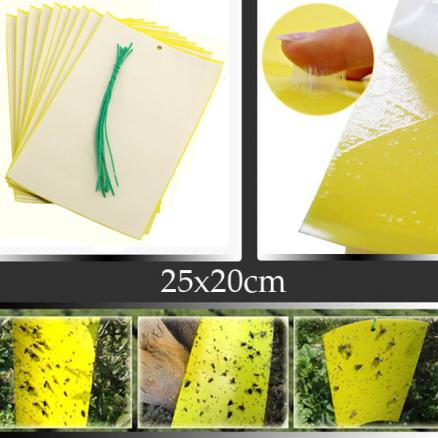 25x30cm Yellow Insect Sticky Trap Whiteflies Aphids Thrips Garden Pest Control Tool