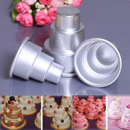 DIY Mini 3-Tier Cupcake Pudding Chocolate Cake Mold Baking Pan