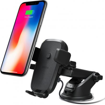 iOttie Car and Desk Holder Qi Wireless Fast Charging Mount Easy One Touch 4 (HLCRIO134)