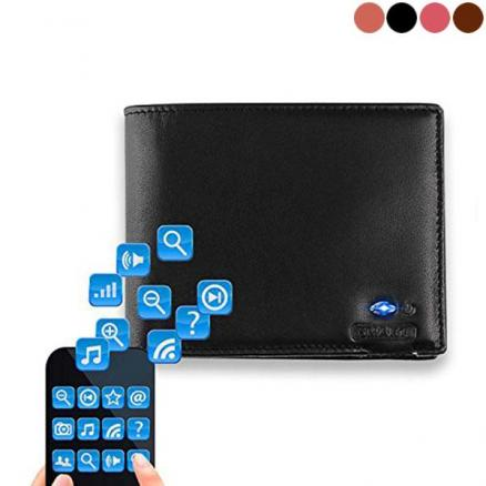 Men's Genuine Leather Wallet Smart Bluetooth Anti-lost Anti-theft Fashion Wallet (DTH-542432)