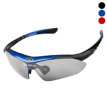 Polarized Sports Sunglasses with 5 Interchangeable Lenses for Cycling Running (SBK-544723)