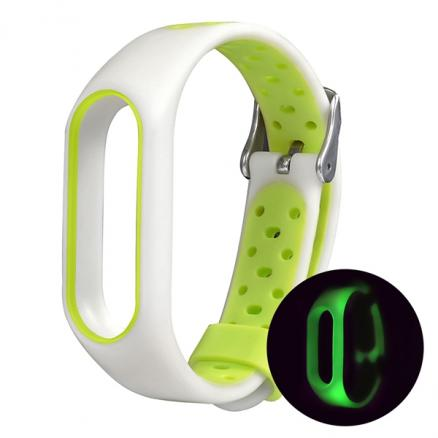 Luminous Replacement Wristband Strap Two-color Air Holes Breathable Xiaomi M2 (E-538317)