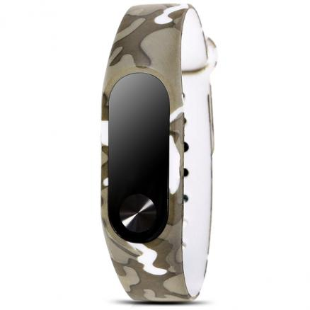 Replaceable Camouflage Style Brown Color Wristband f Xiaomi Miband 2 (E-523250)