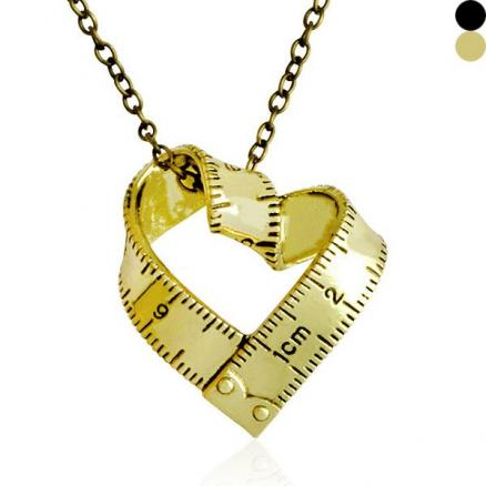 Alloy Heart Shaped Ruler Long Necklace (HHI-557129)